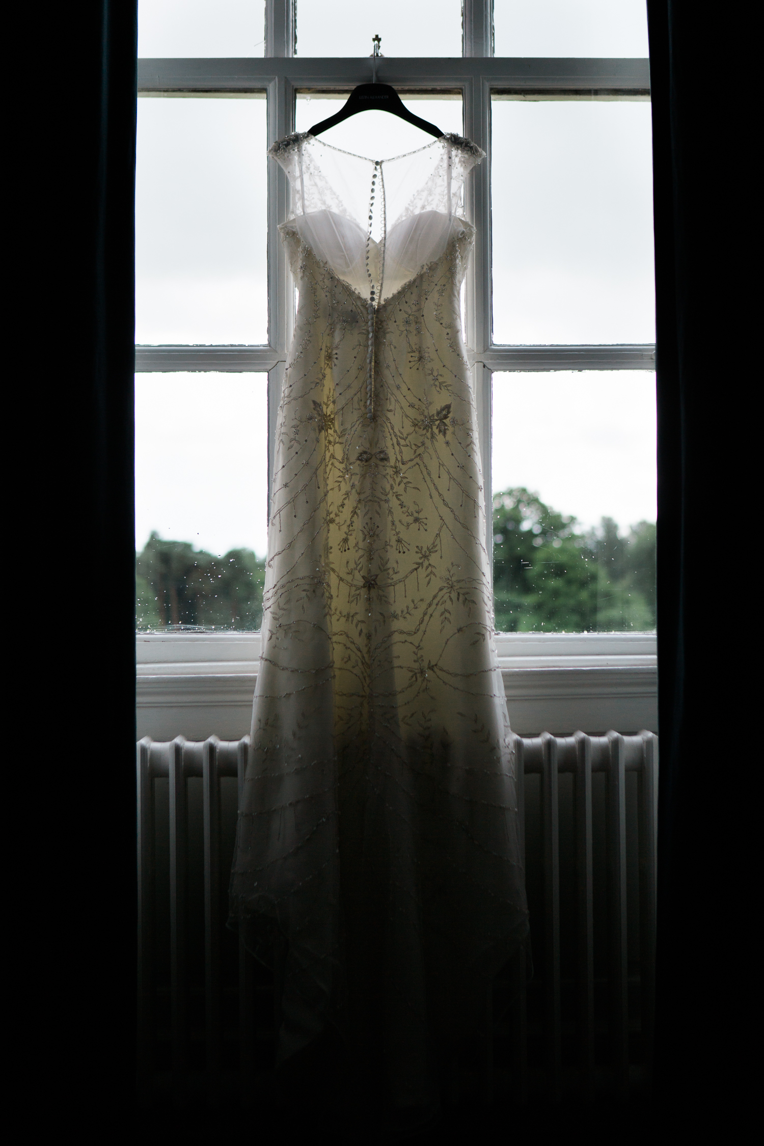 Justin Alexander Wedding Gown at Iscoyd Park Wedding photo