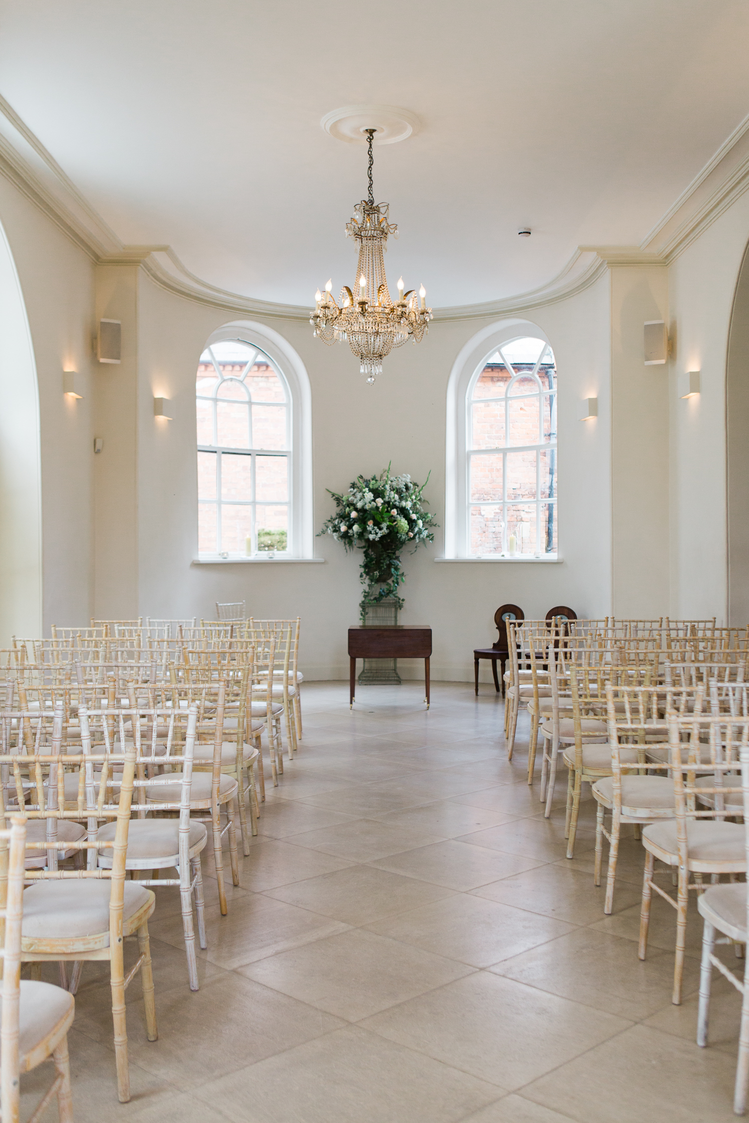 Ceremony room at Iscoyd Park by UK Fine Art Wedding Photographer based in the North West.