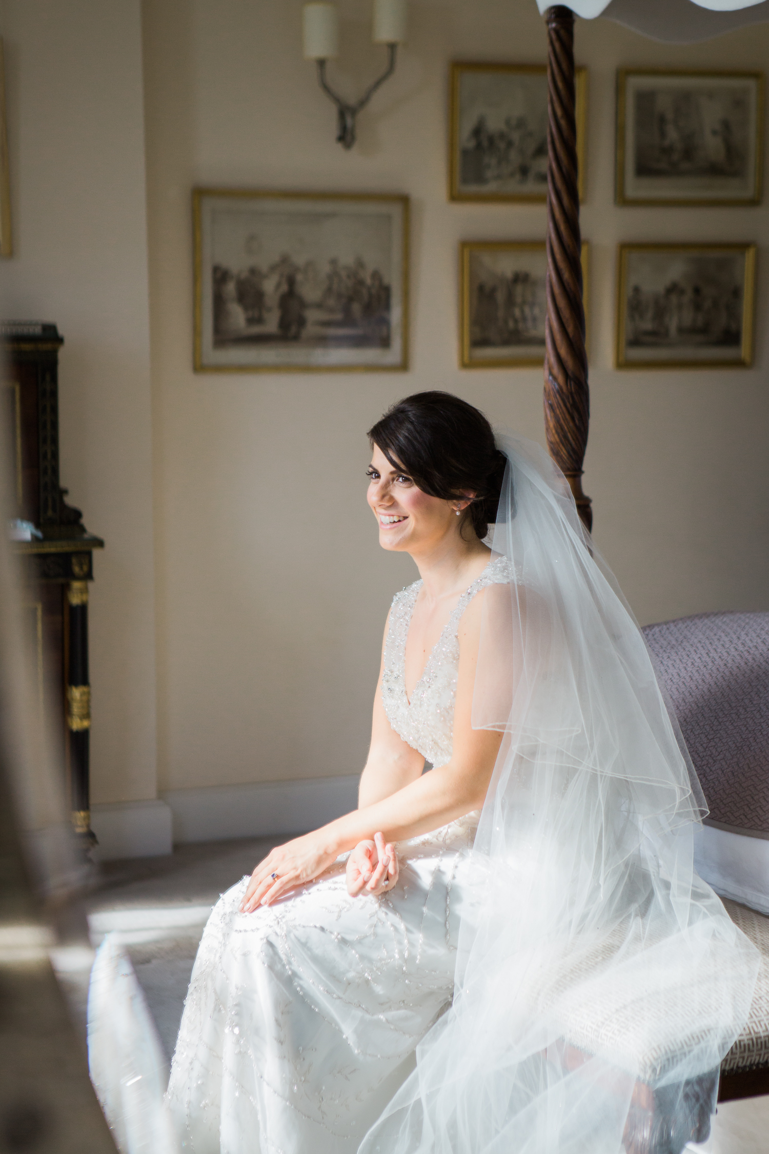 Bridal Portraits at Iscoyd Park. Fine art wedding photography in the UK.