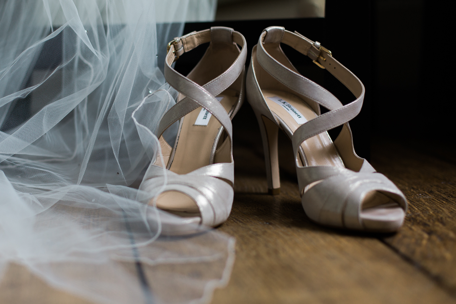 LK Bennett shoes for an Iscoyd Park Wedding photo