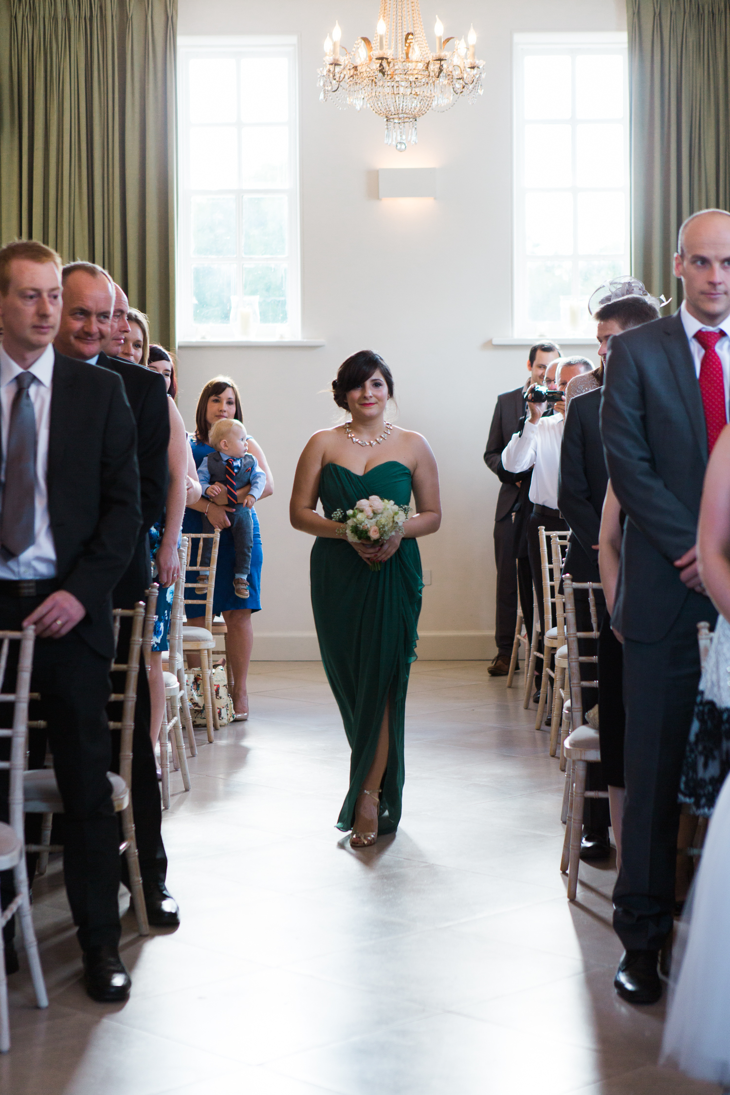 Wedding ceremony at Iscoyd Park by Cheshire Wedding Photographer photo