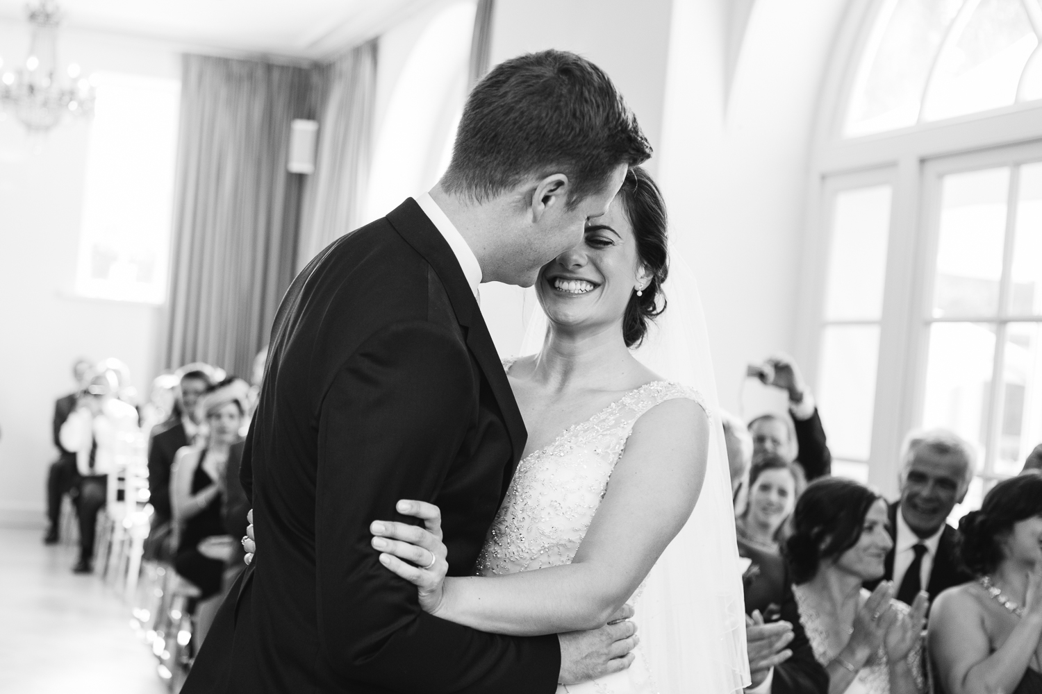 Black and white wedding photography at Iscoyd Park Shropshire photo