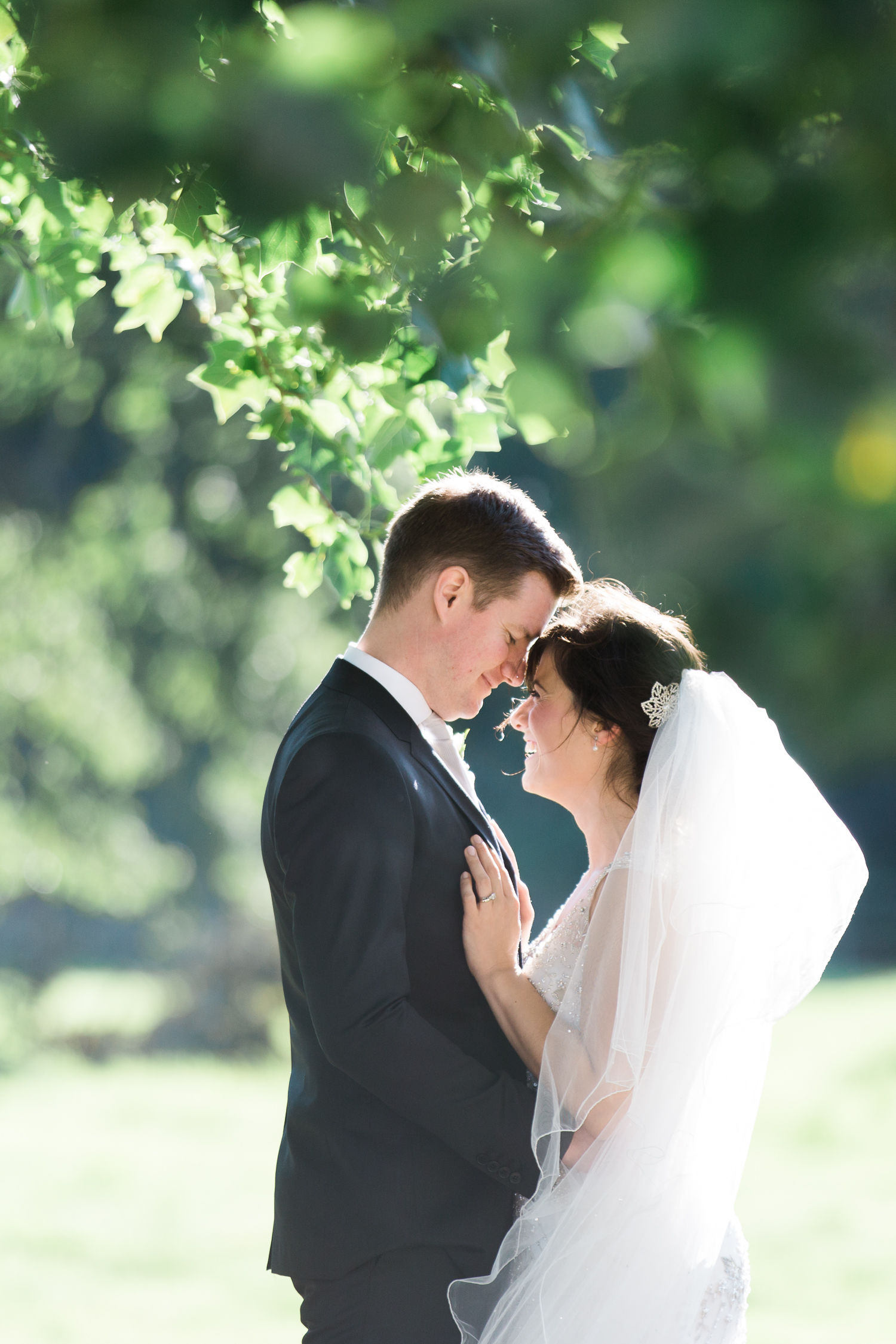 An elegant summer Iscoyd Park wedding. Bride and groom for an elegant Iscoyd Park summer wedding photo