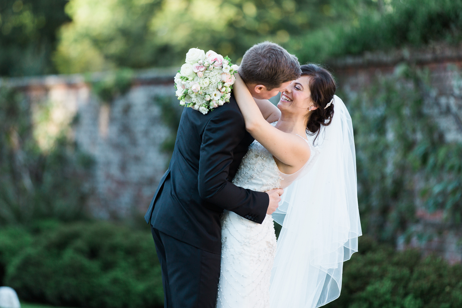 Bride and groom portraits at Iscoyd Park wedding photo