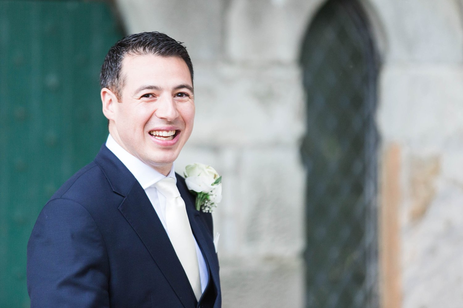 Groom portraits at Carlowrie Castle Scotland Wedding Photo
