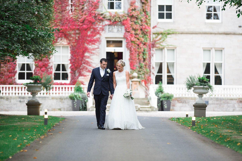 Autumn wedding at Carlowrie Castle, Edinburgh. Luxury castle wedding in Fine Art Wedding Photography photo.