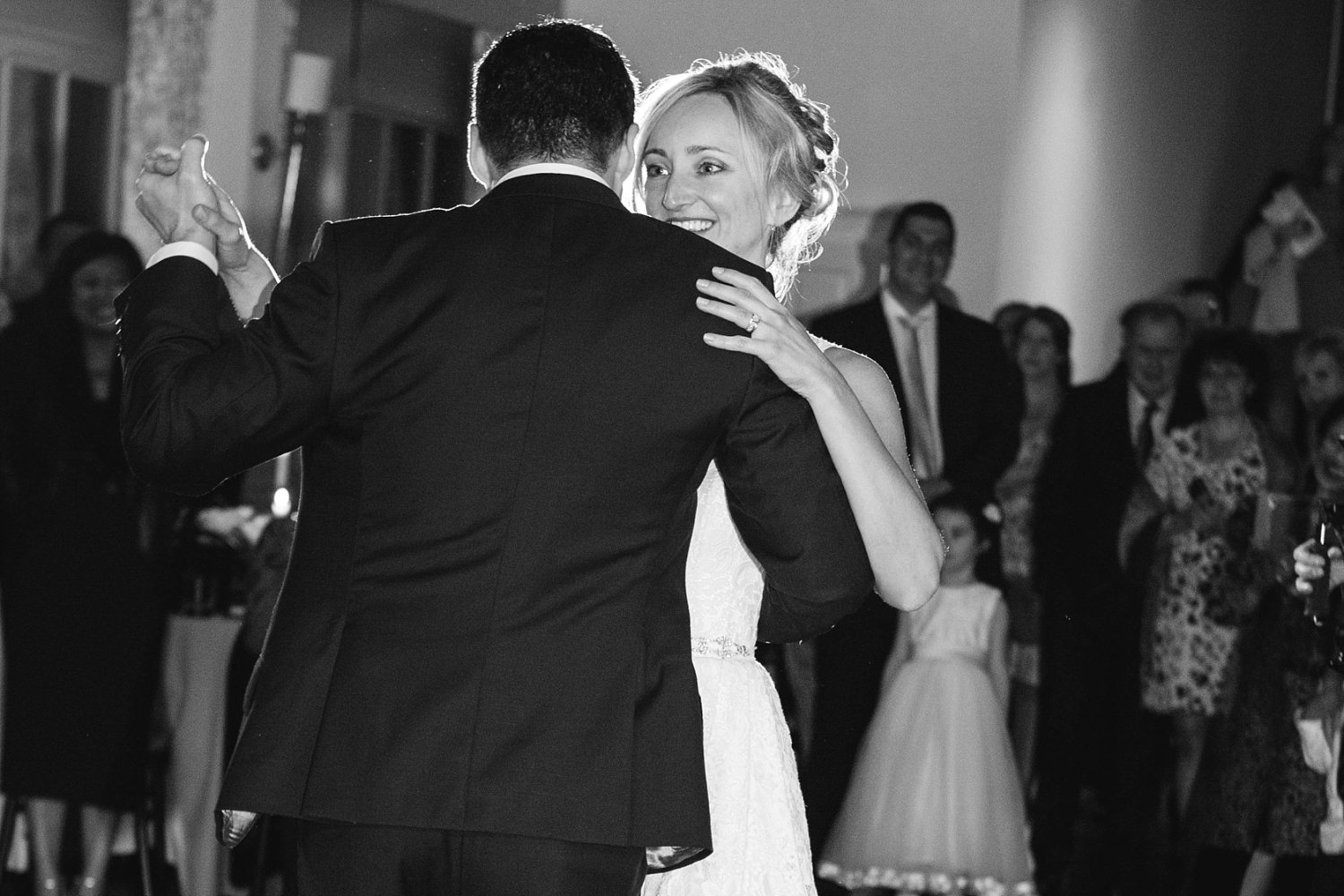 First dance photo at Carlowrie Castle Wedding in Scotland