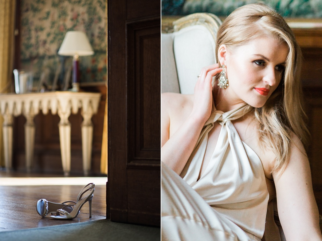 Luxury wedding venue inspiration in the UK. Bride red lips in Halfpenny Gown photo
