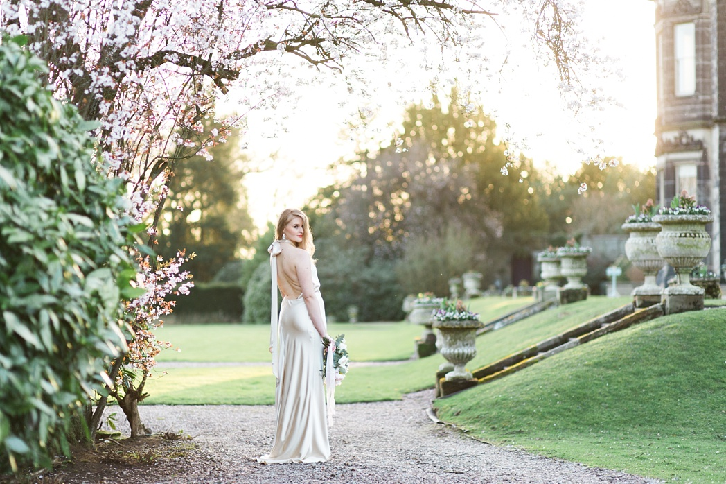 Luxury laid back elegance country house wedding inspiration. Sandon Hall Spring Wedding with Halfpenny London Gown photo